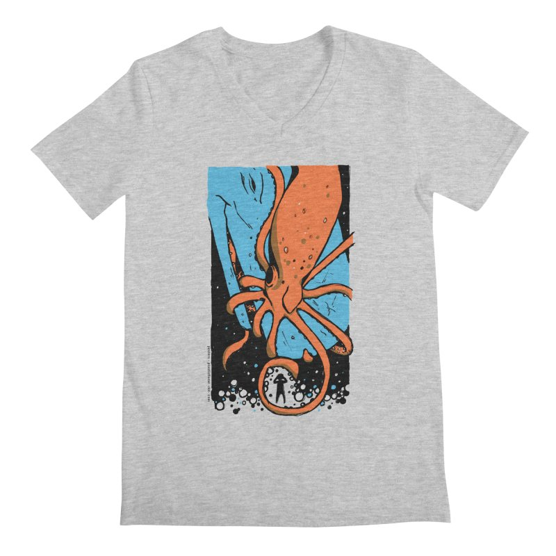 The Squid & the Whale Men's Regular V-Neck by Chris Williams' Artist Shop