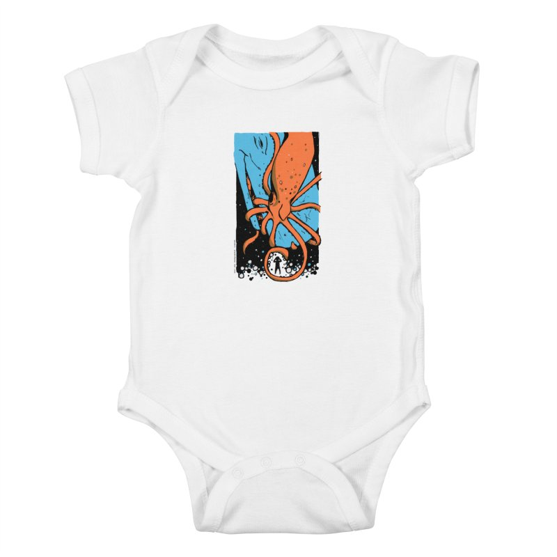 The Squid & the Whale Kids Baby Bodysuit by Chris Williams' Artist Shop