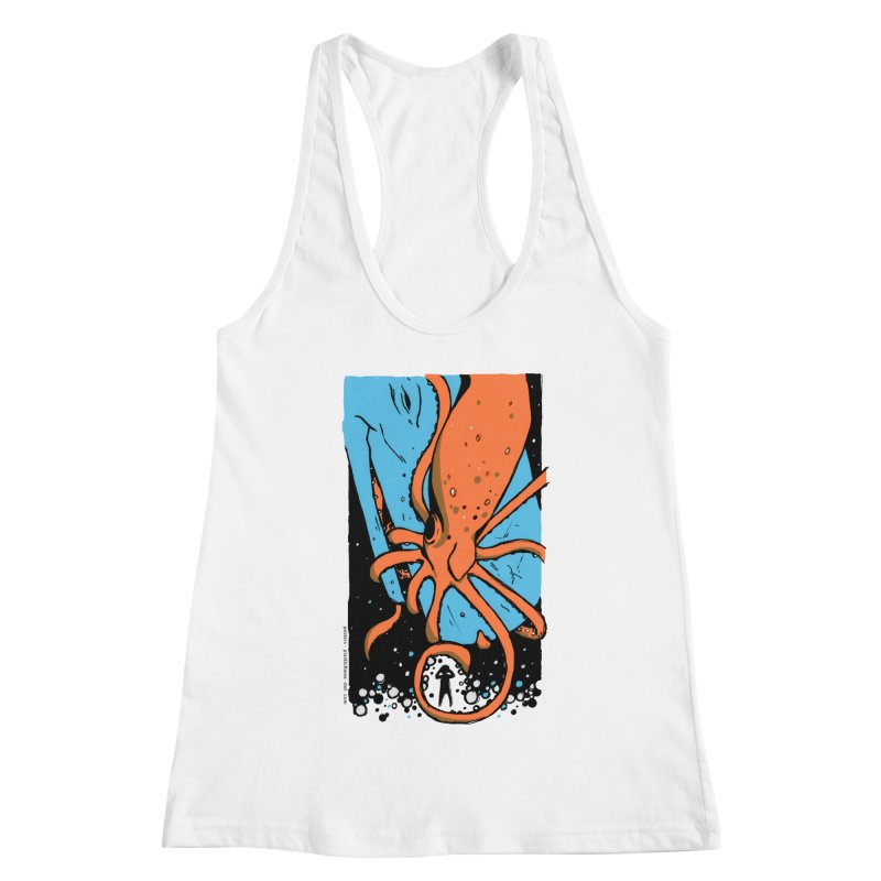 The Squid & the Whale Women's Racerback Tank by Chris Williams' Artist Shop