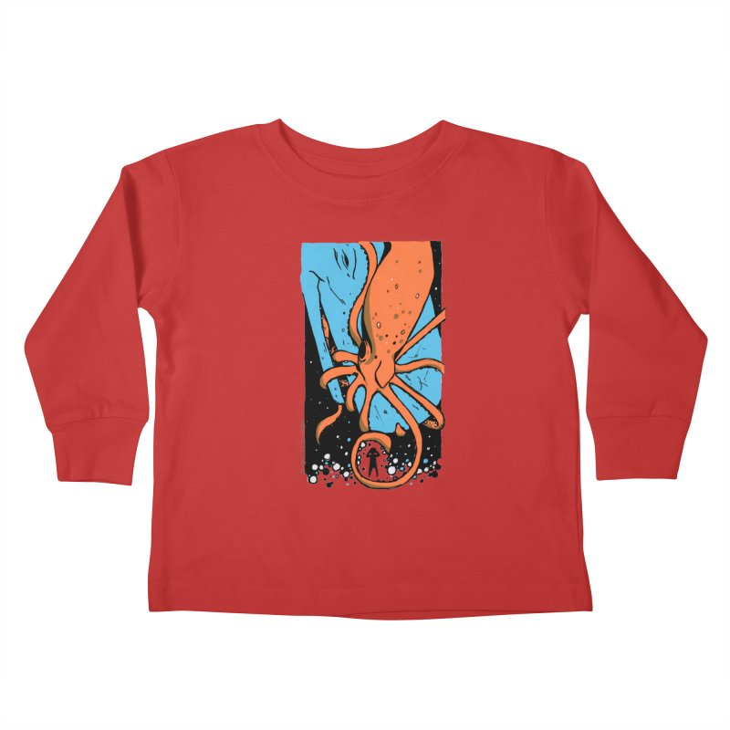 The Squid & the Whale Kids Toddler Longsleeve T-Shirt by Chris Williams' Artist Shop