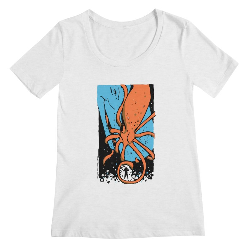 The Squid & the Whale Women's Regular Scoop Neck by Chris Williams' Artist Shop