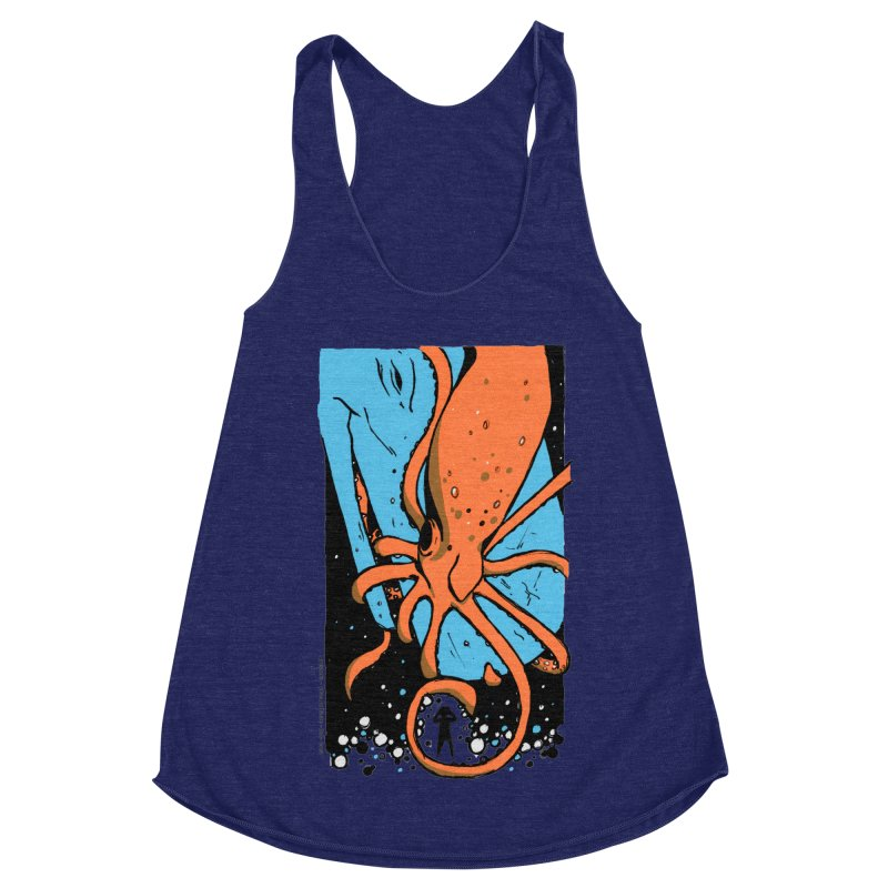 The Squid & the Whale Women's Racerback Triblend Tank by Chris Williams' Artist Shop