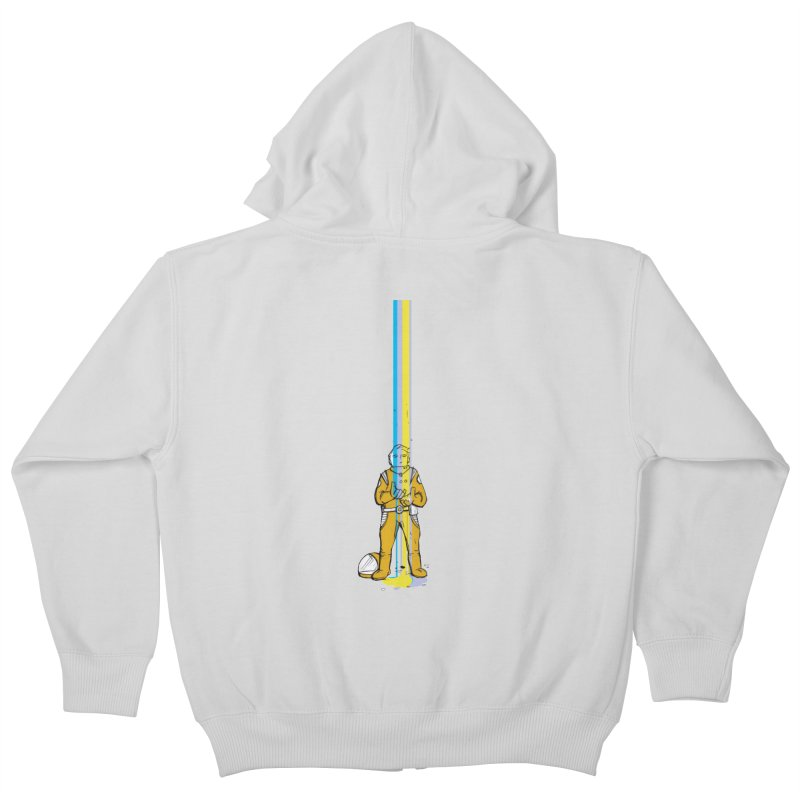 Right now is just fine Kids Zip-Up Hoody by Chris Williams' Artist Shop
