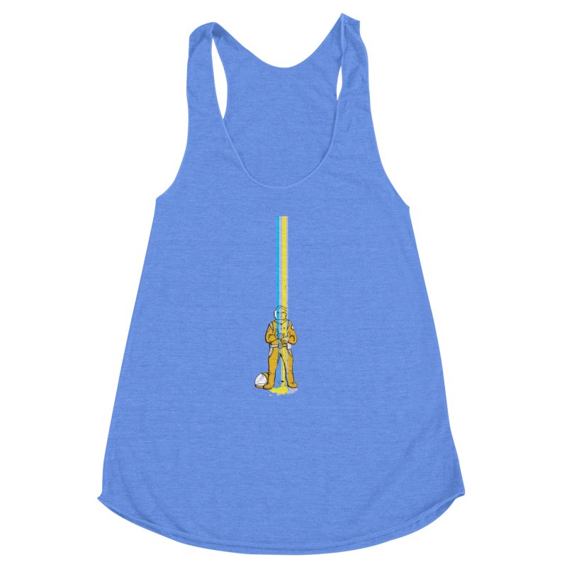 Right now is just fine Women's Racerback Triblend Tank by Chris Williams' Artist Shop