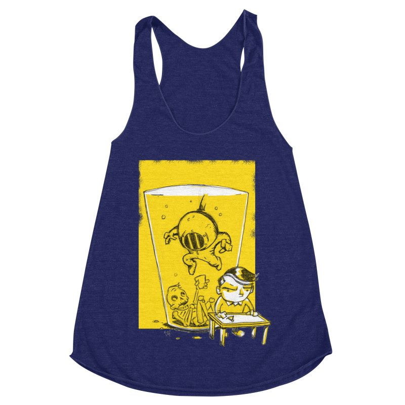 Beer Diver Women's Racerback Triblend Tank by Chris Williams' Artist Shop