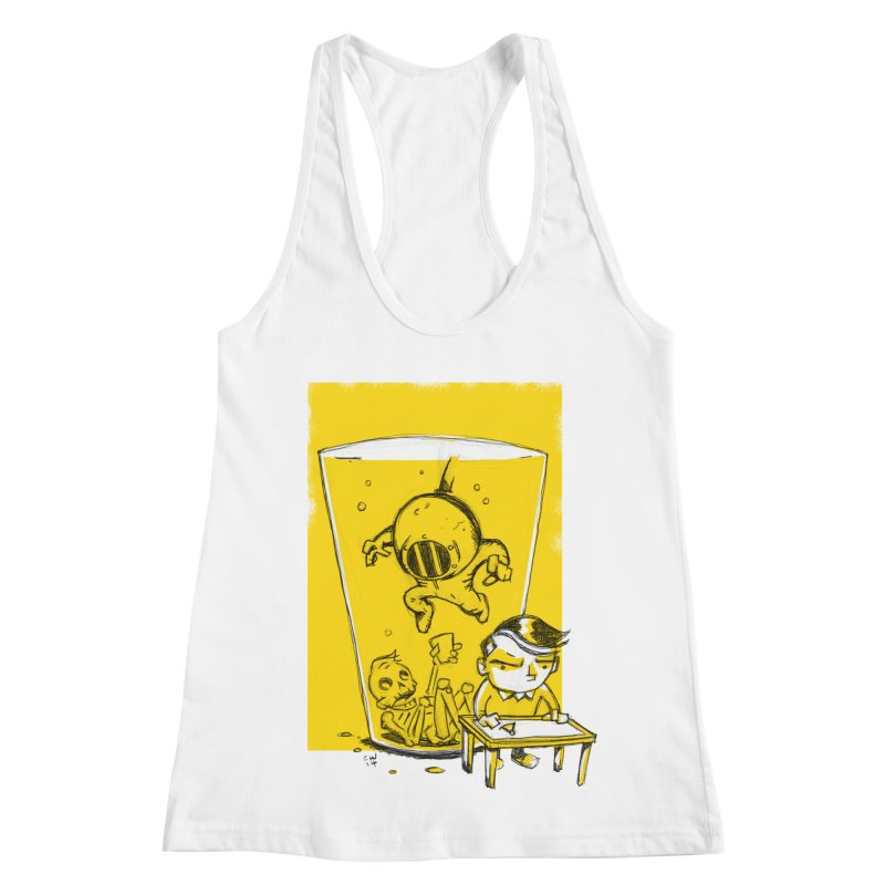Beer Diver Women's Racerback Tank by Chris Williams' Artist Shop