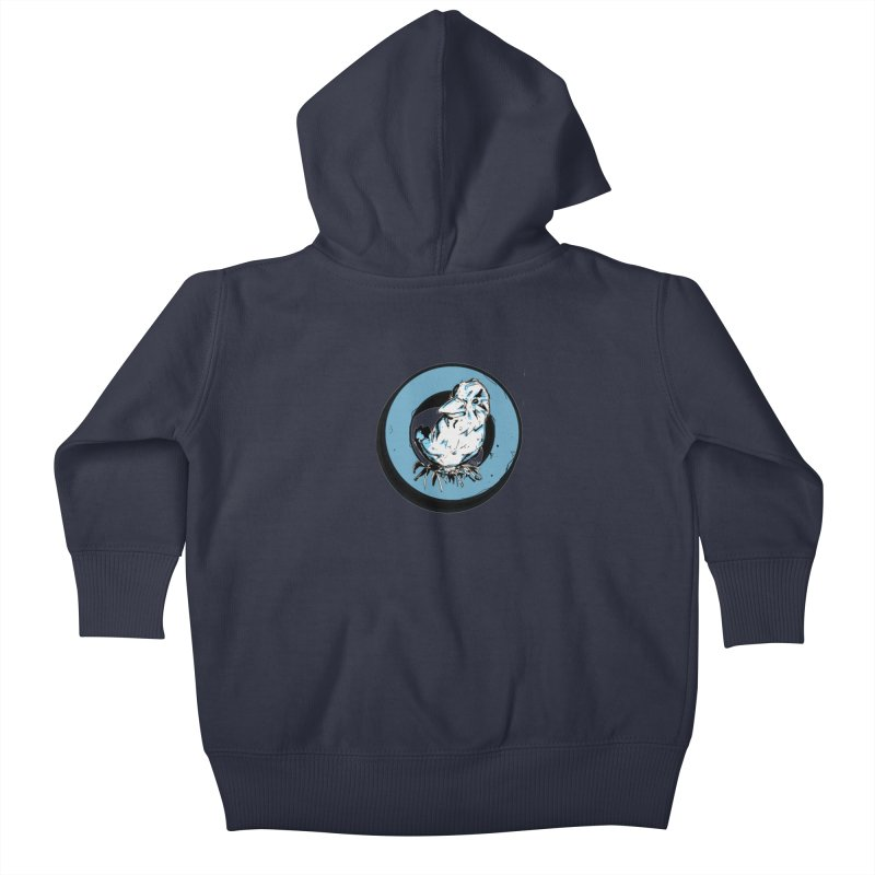 Nesting Kids Baby Zip-Up Hoody by Chris Williams' Artist Shop