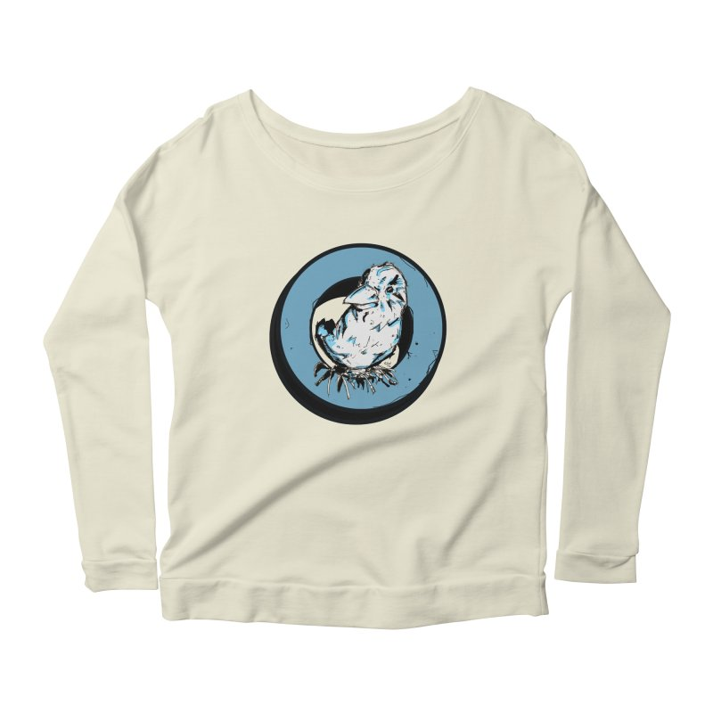 Nesting Women's Scoop Neck Longsleeve T-Shirt by Chris Williams' Artist Shop