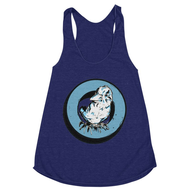 Nesting Women's Racerback Triblend Tank by Chris Williams' Artist Shop