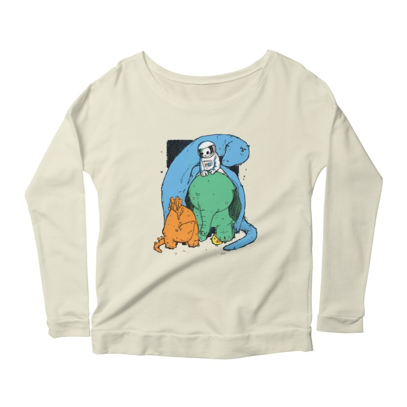 BFFs Women's Scoop Neck Longsleeve T-Shirt by Chris Williams' Artist Shop