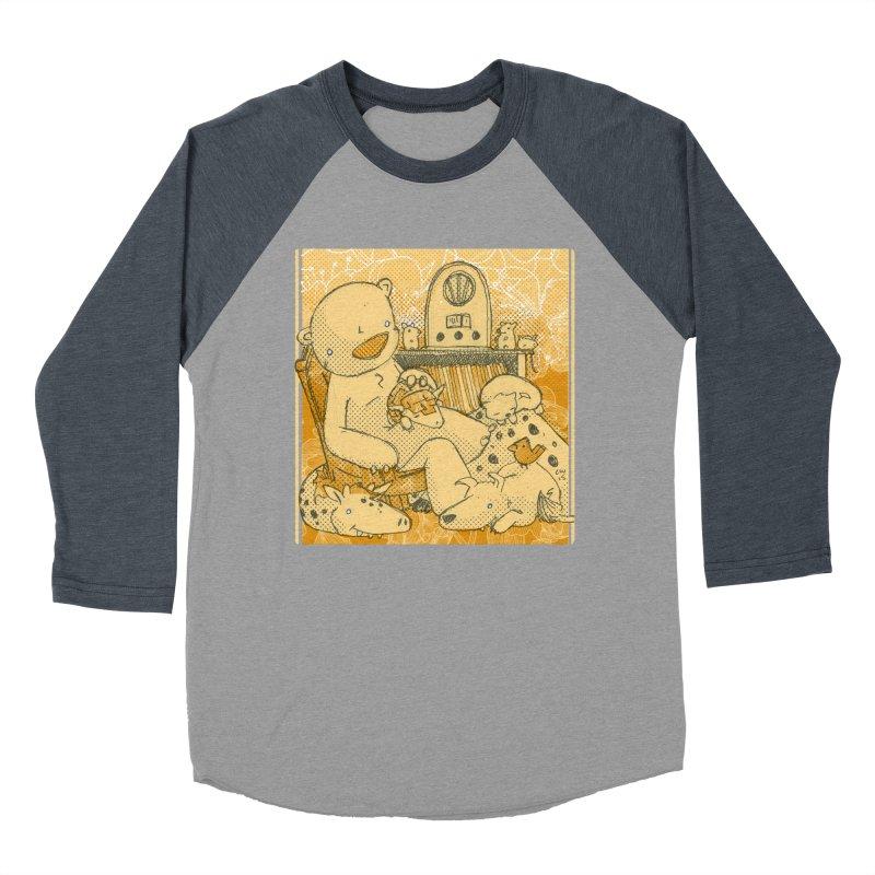 Family Radio Hour Men's Baseball Triblend T-Shirt by Chris Williams' Artist Shop