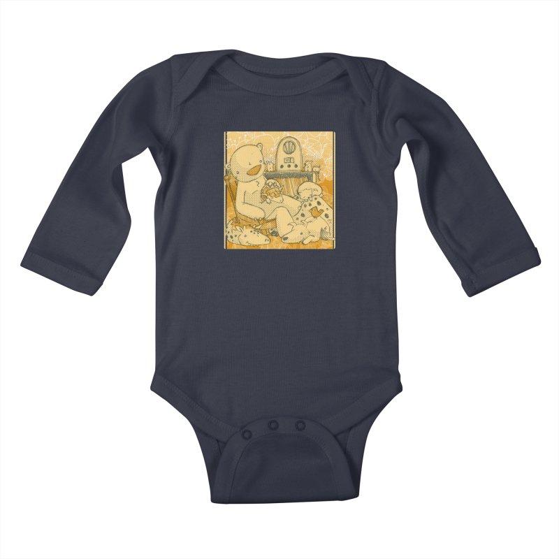 Family Radio Hour Kids Baby Longsleeve Bodysuit by Chris Williams' Artist Shop