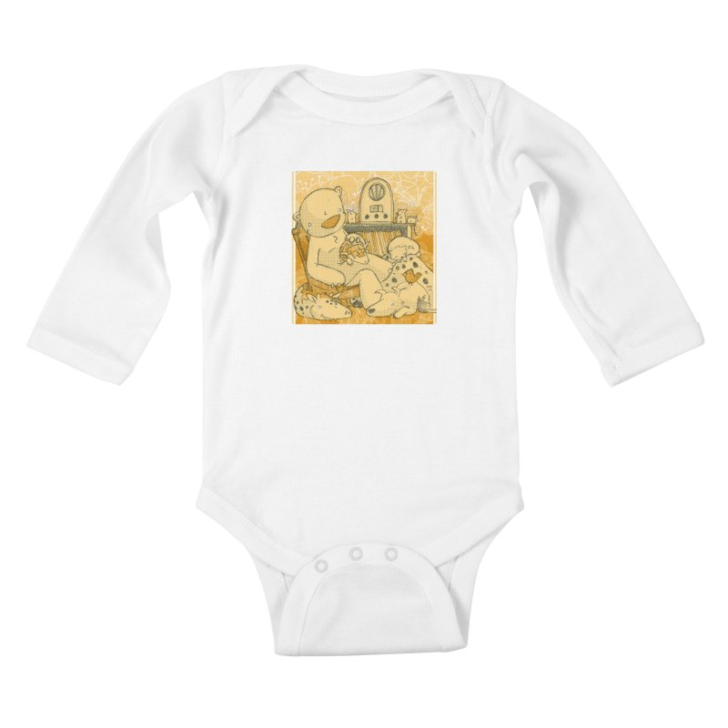 Family Radio Hour Kids Baby Longsleeve Bodysuit by Chris Williams' Artist Shop