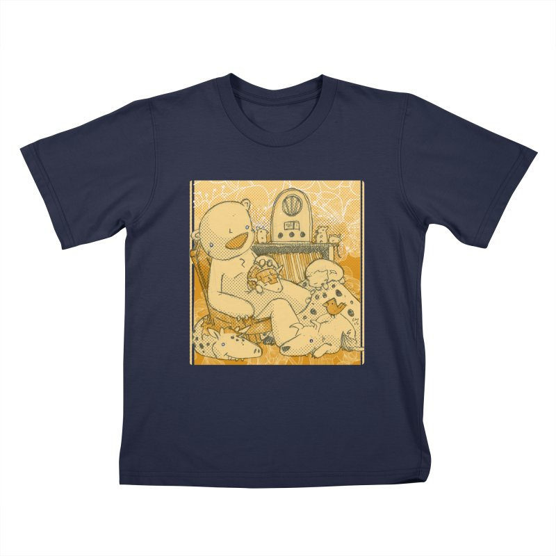 Family Radio Hour Kids T-Shirt by Chris Williams' Artist Shop