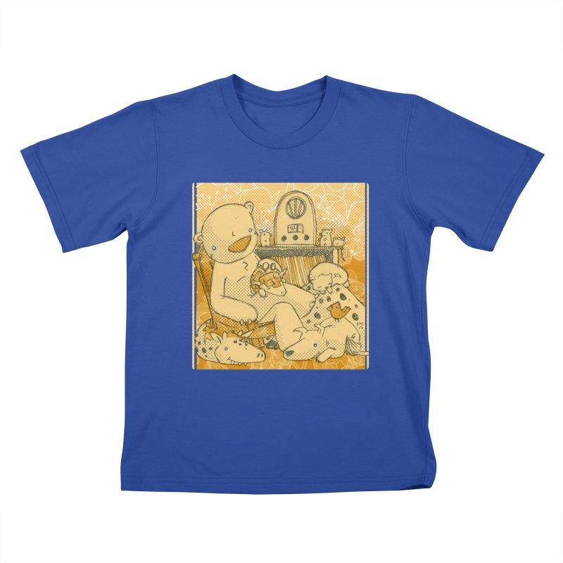 Family Radio Hour Kids T-Shirt by Chris Williams' Artist Shop