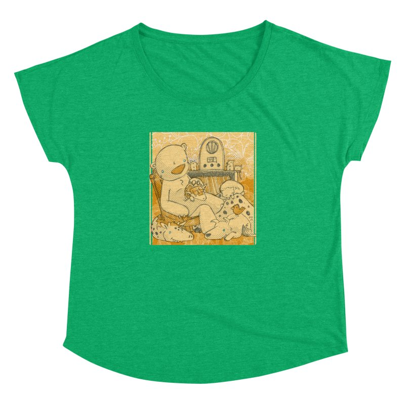 Family Radio Hour Women's Dolman Scoop Neck by Chris Williams' Artist Shop