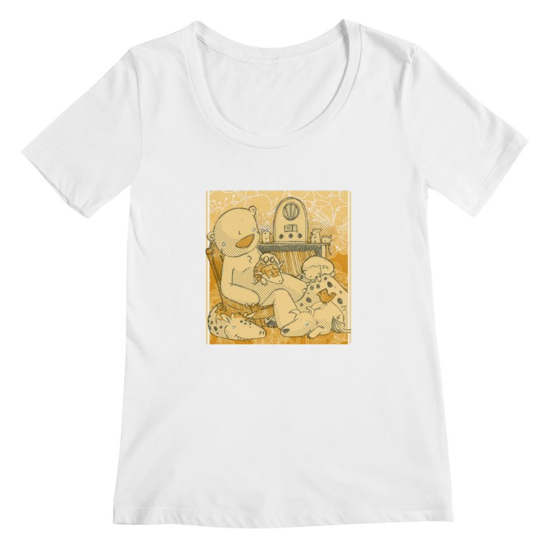 Family Radio Hour Women's Scoopneck by Chris Williams' Artist Shop