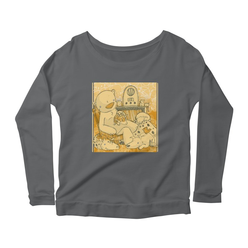 Family Radio Hour Women's Scoop Neck Longsleeve T-Shirt by Chris Williams' Artist Shop