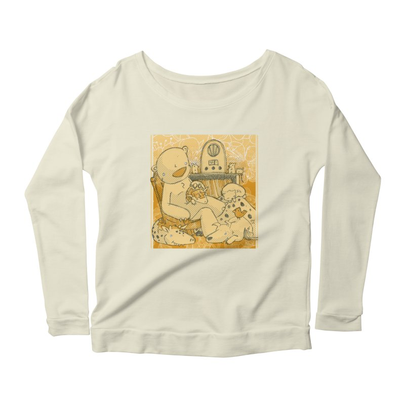 Family Radio Hour Women's Longsleeve Scoopneck  by Chris Williams' Artist Shop