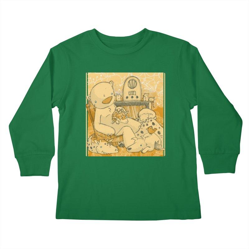 Family Radio Hour Kids Longsleeve T-Shirt by Chris Williams' Artist Shop