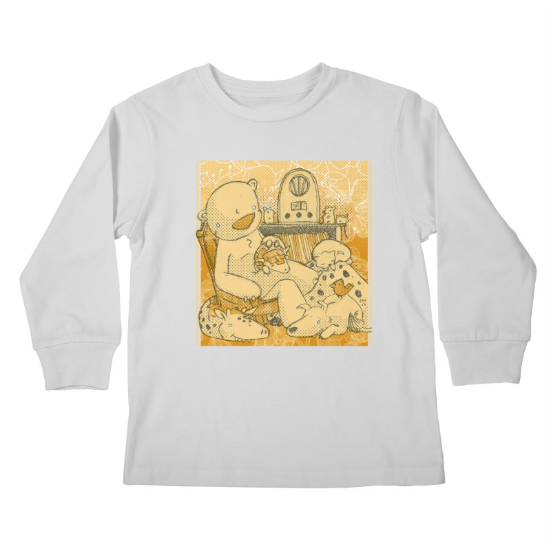 Family Radio Hour Kids Longsleeve T-Shirt by Chris Williams' Artist Shop