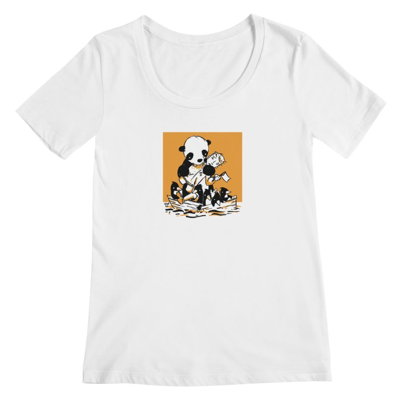 Gonna Need a Bigger Boat Women's Regular Scoop Neck by Chris Williams' Artist Shop