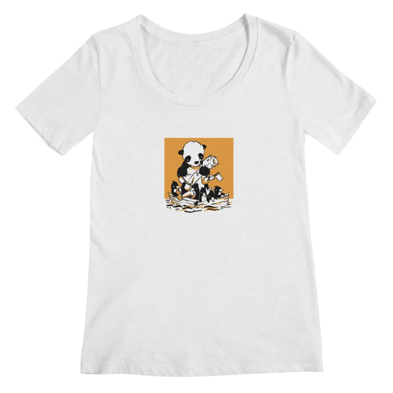 Gonna Need a Bigger Boat Women's Scoop Neck by Chris Williams' Artist Shop