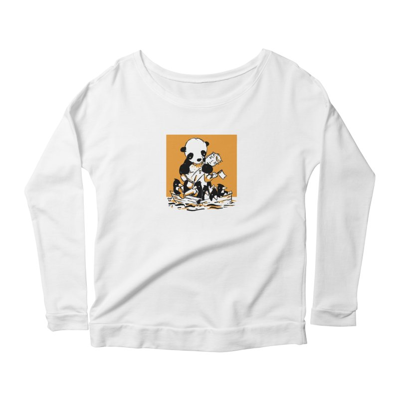 Gonna Need a Bigger Boat Women's Longsleeve Scoopneck  by Chris Williams' Artist Shop