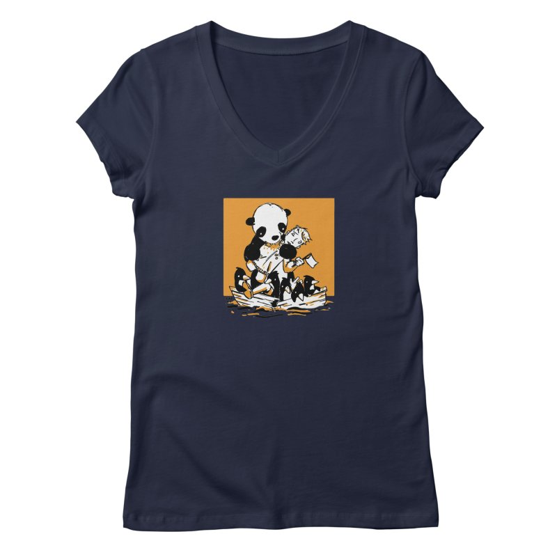 Gonna Need a Bigger Boat Women's Regular V-Neck by Chris Williams' Artist Shop