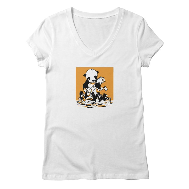 Gonna Need a Bigger Boat Women's V-Neck by Chris Williams' Artist Shop