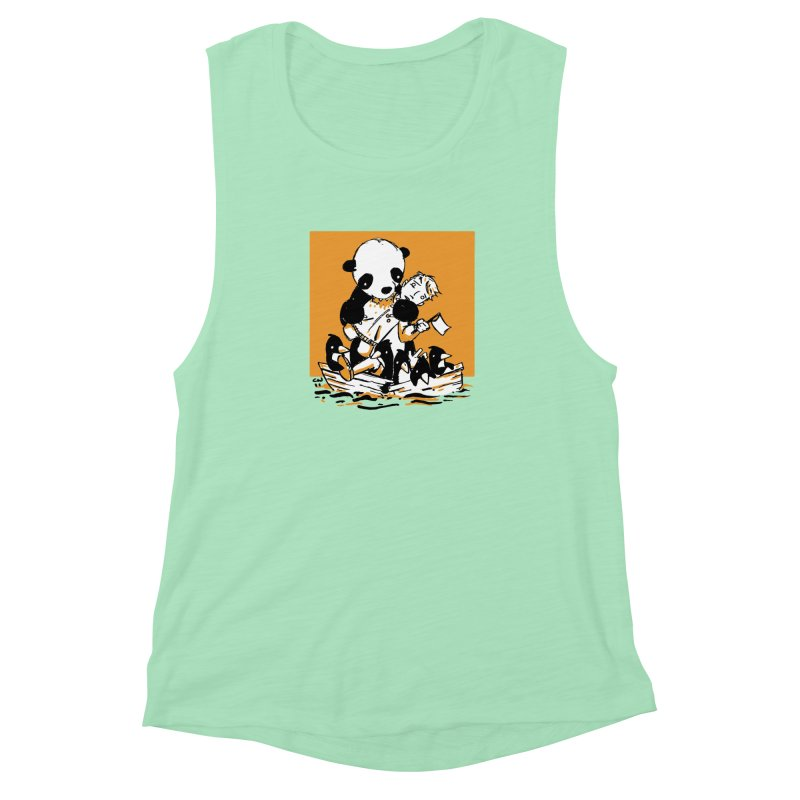Gonna Need a Bigger Boat Women's Muscle Tank by Chris Williams' Artist Shop