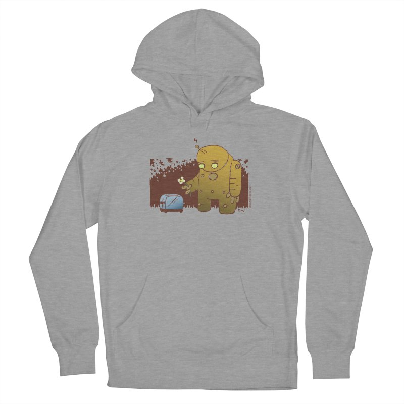 Sad Robot Women's French Terry Pullover Hoody by Chris Williams' Artist Shop