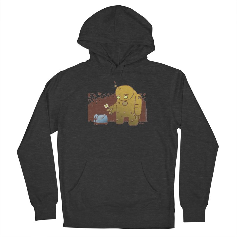Sad Robot Men's French Terry Pullover Hoody by Chris Williams' Artist Shop