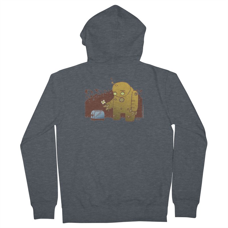Sad Robot Women's French Terry Zip-Up Hoody by Chris Williams' Artist Shop