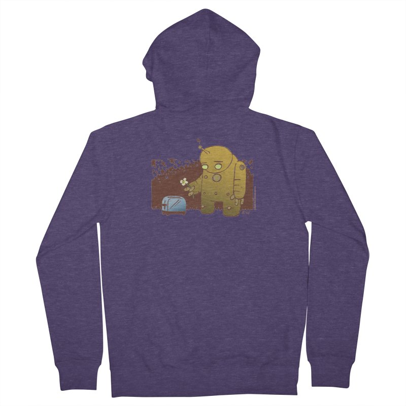 Sad Robot Men's French Terry Zip-Up Hoody by Chris Williams' Artist Shop