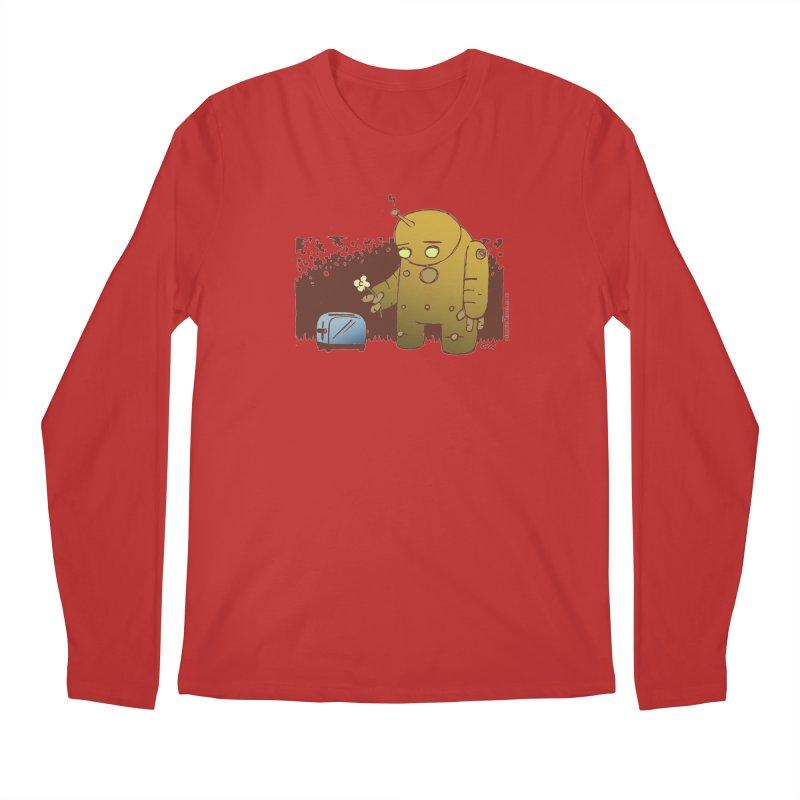 Sad Robot Men's Longsleeve T-Shirt by Chris Williams' Artist Shop