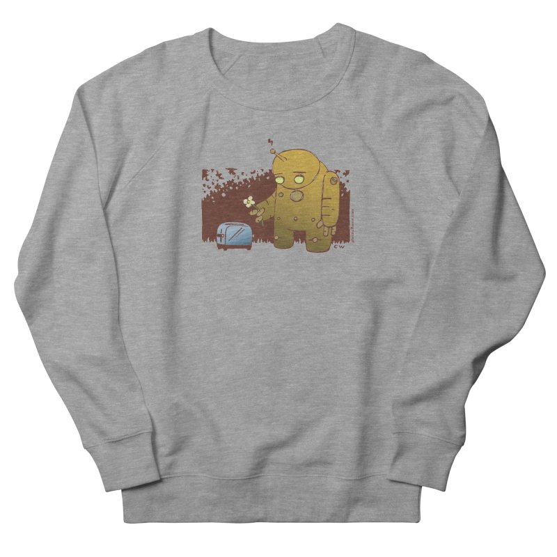 Sad Robot Women's French Terry Sweatshirt by Chris Williams' Artist Shop