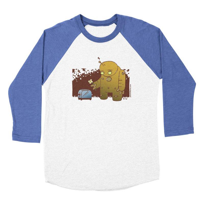 Sad Robot Women's Baseball Triblend Longsleeve T-Shirt by Chris Williams' Artist Shop