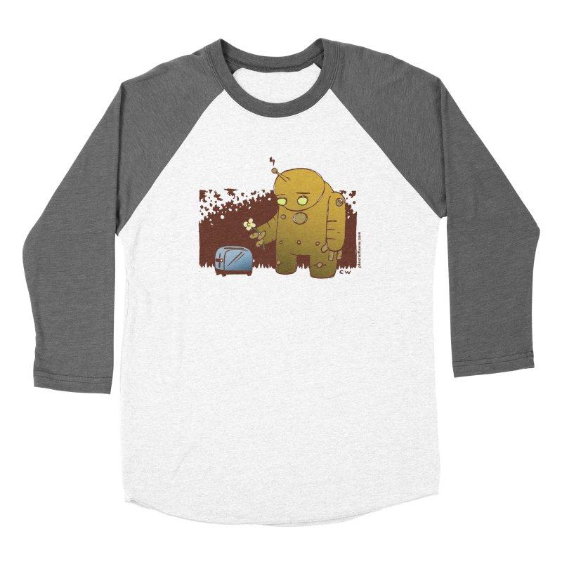 Sad Robot Men's Baseball Triblend T-Shirt by Chris Williams' Artist Shop