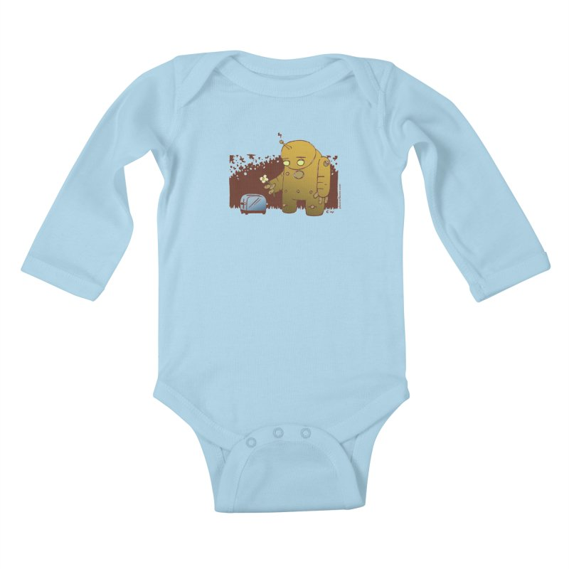 Sad Robot Kids Baby Longsleeve Bodysuit by Chris Williams' Artist Shop