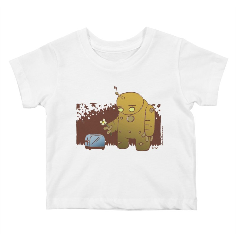 Sad Robot Kids Baby T-Shirt by Chris Williams' Artist Shop