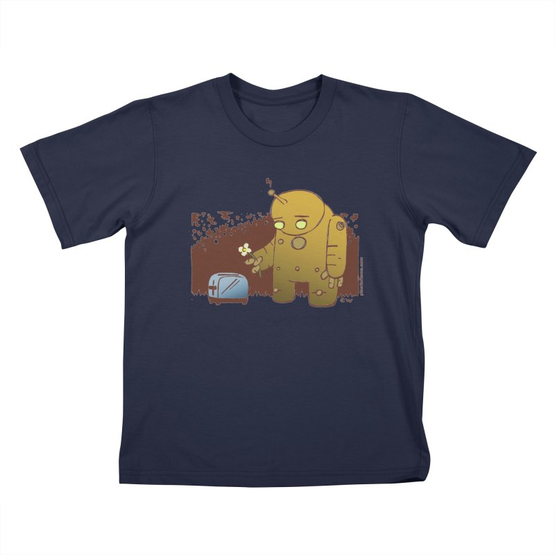 Sad Robot Kids T-Shirt by Chris Williams' Artist Shop