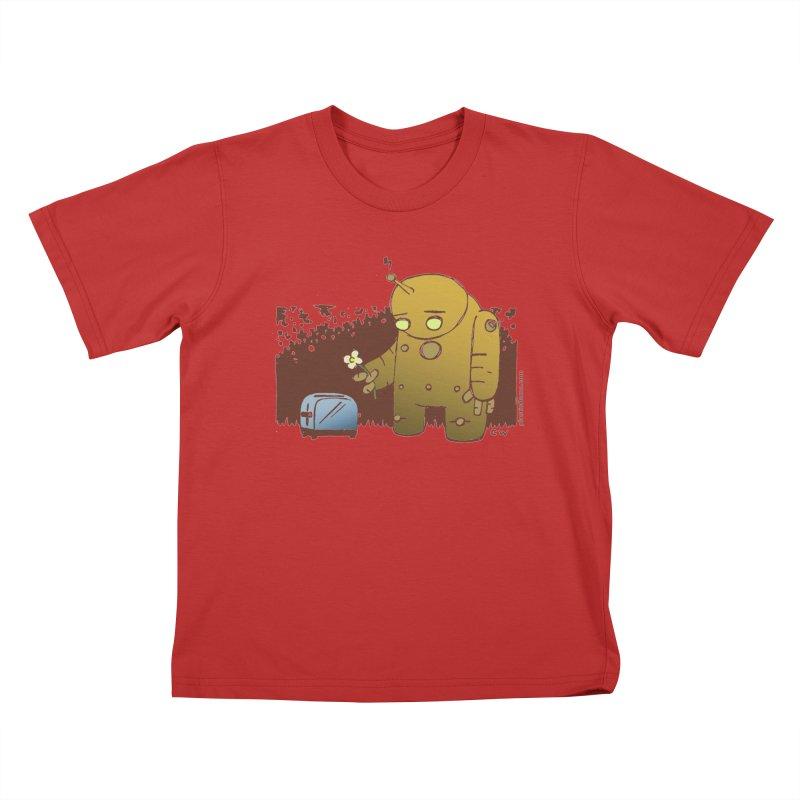 Sad Robot Kids T-Shirt by Chris Williams' Artist Shop