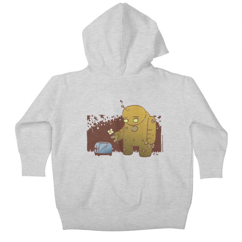 Sad Robot Kids Baby Zip-Up Hoody by Chris Williams' Artist Shop