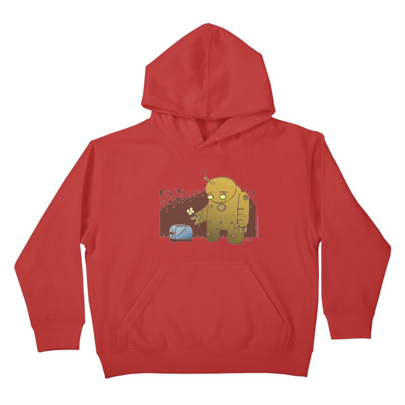 Sad Robot Kids Pullover Hoody by Chris Williams' Artist Shop