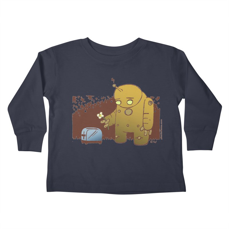 Sad Robot Kids Toddler Longsleeve T-Shirt by Chris Williams' Artist Shop