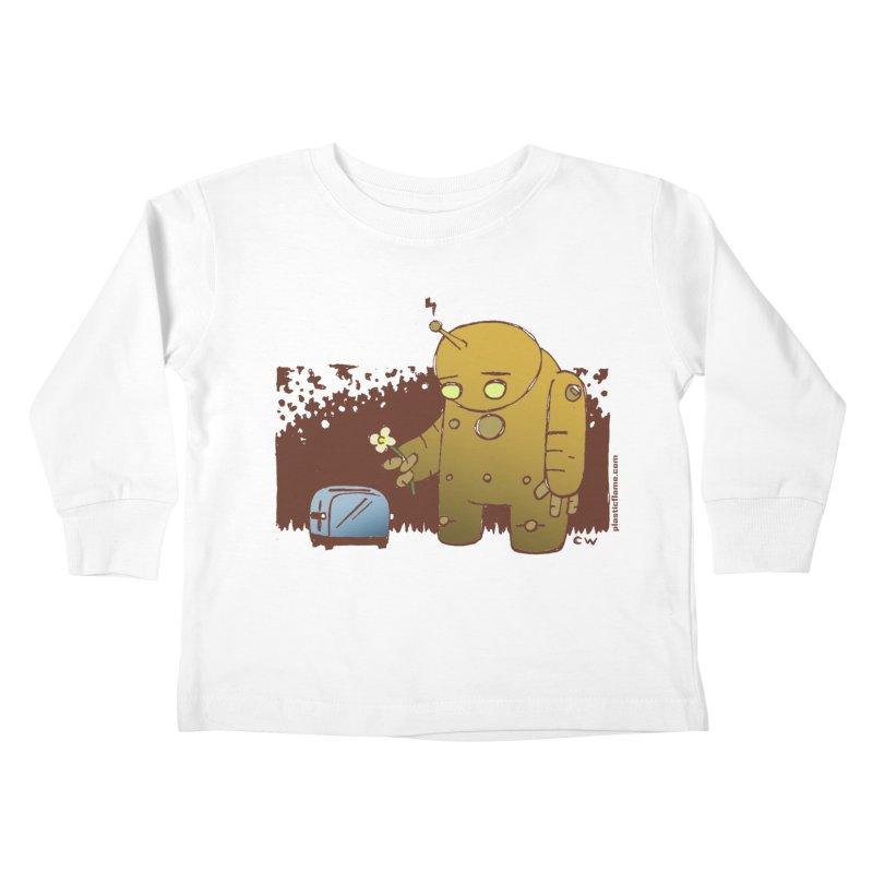 Sad Robot Kids Toddler Longsleeve T-Shirt by Chris Williams' Artist Shop