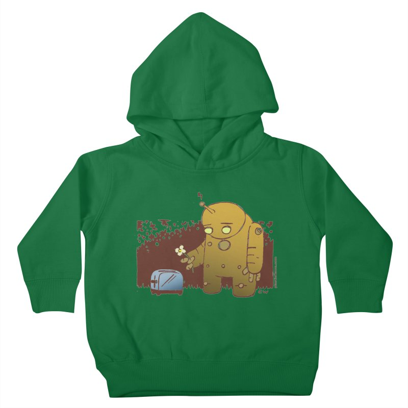 Sad Robot Kids Toddler Pullover Hoody by Chris Williams' Artist Shop