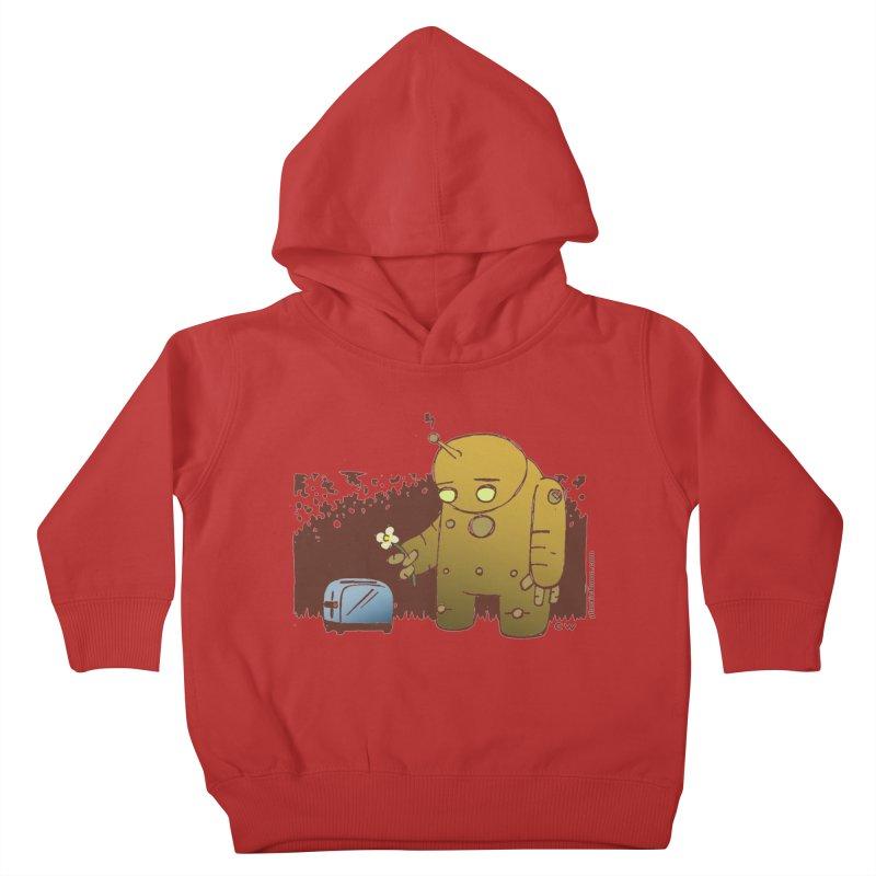 Sad Robot Kids Toddler Pullover Hoody by Chris Williams' Artist Shop