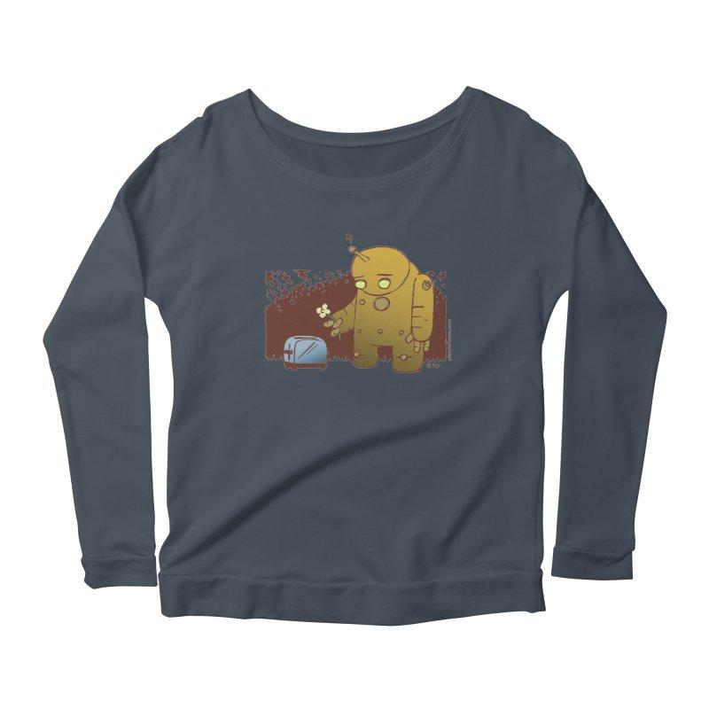 Sad Robot Women's Scoop Neck Longsleeve T-Shirt by Chris Williams' Artist Shop